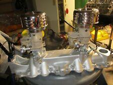 Flathead Ford V8 2x2 Intakew Stromberg 97 Carbsrebuilt