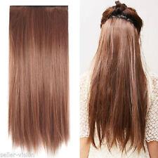 Extensiones de pelo castaño largos