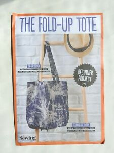 Fold Up Tote Pattern - Simply Sewing  new & sealed UNCUT great for beginners