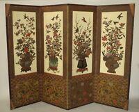 Paravent Art Déco en papier peint japonisant, cira 1920