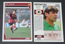 216 NELA AS ROMA FOOTBALL CARD 92 1991-1992 CALCIO ITALIA SERIE A