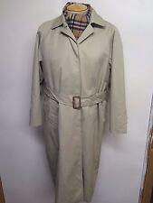 Vintage Aquascutum Beige Belted Raincoat Coat Mac Size UK 14 Euro 42 + Liner
