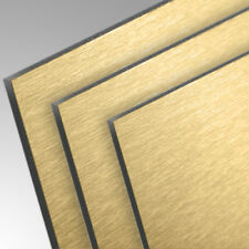 Dibond® Aluverbundplatte Butlerfinish Gold Brushed-Series 3mm strukturiert eins.