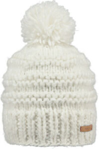 2020 NEW BARTS ADULT BEANIE JASMIN HAT WHITE KNIT POM LADY WOMENS