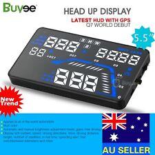 Q7 HUD 5.5'' Car Head Up Display GPS Windscreen Projector Speed Fuel Warning New