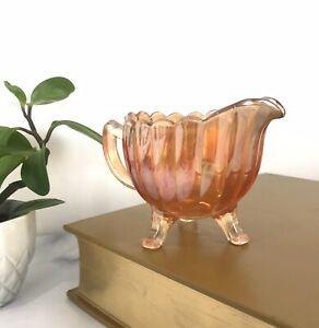 Vintage Marigold Carnival Glass Creamer Jug Retro Ornament Decor Lustre 1920s