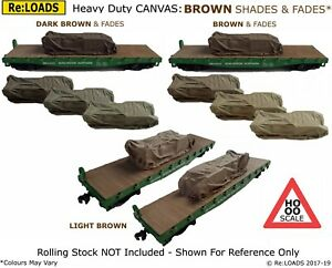 BROWN Shades & Fades Tarped Covered Sheeted Model Road & Railway Load, HO, OO