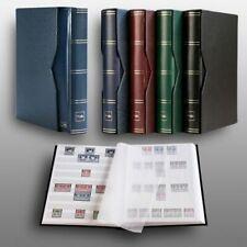 Prophila Leuchtturm 60 weiße Seiten Briefmarkenalbum wattiert mit Kassette blau