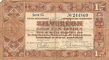Netherlands 1 zilverbon 1938 Pick 61 Good , CL 244860