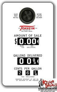 "FACE-103) 15""X9.3"" Tokheim GAS PUMP FACE STICKER DECAL GASOLINE FOR FANTASY PUMP"