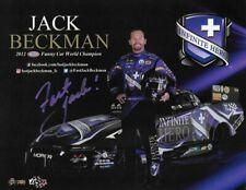"SIGNED 2019 JACK BECKMAN ""INFINITE HERO MOPAR"" NHRA FUNNY CAR HANDOUT/POSTCARD"