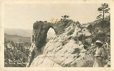c1910 The Arch on Little Deer Creek, Wyoming Real Photo Postcard/Rppc