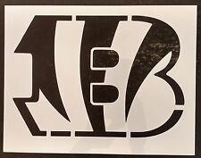 """Cincinnati Bengals B 8.5"""" x 11"""" Custom Stencil FAST FREE SHIPPING"""