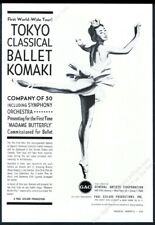 1962 Tokyo Classical Ballet Komaki Usa tour booking vintage print ad