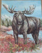 1985 Signed Doug Lindstrand Alaskan Moose Print Alaskan Sketches Limited Ed