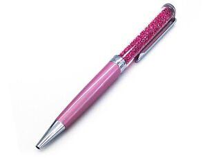 NEW SWAROVSKI Pink Chrome Plated Crystalline Ballpoint Pen Black Ink 5351074