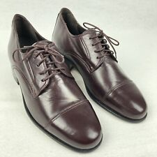 VERO CUOIO Men's Brown Italian Leather Oxfords Dress Casual Shoes Size 9 M