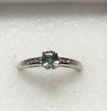 14kt .64ctw Natural Alexandrite & Diamond Vintage Ring-Beautiful CC