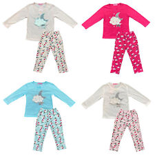 Girls Kids Pyjamas Long Sleeve Top Bottom Set Nightwear PJs
