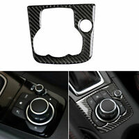 Carbon Fiber Vehicle Multimedia Frames Sticker Decals For Mazda3 Axela 2014-2016