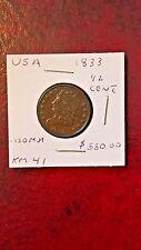 1833 Classic Head Half Cent  KM 41 USA