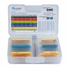 17 Values 1% Resistor Kit Assortment 0 Ohm-1M Ohm Pack Set 1/2w 1/4 Watt 525pcs