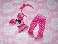 Mattel Monster High Doll CLOTHING LOT ~ Polka Dot PJ's ~ Pajamas Clothes Lot ~