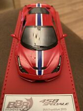 BBR Ferrari 1/43 Deluxe Leather Base Limited 29/40 - 458 Speciale IAA Frankfurt
