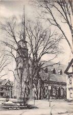 MILTON PA PRESBYTERIAN CHURCH BLACK WHITE TEACRAFT POSTCARD 1940s