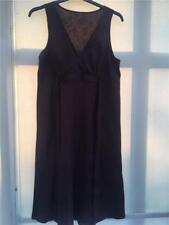 JoJo Maman Bebe womens size 14 linen smock dress Brown VGC tie back maternity c4