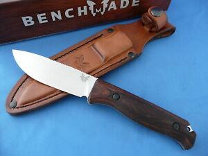 Benchmade 15002 Saddle Mountain Skinner Knife S30V Wood Handle Leather Sheath