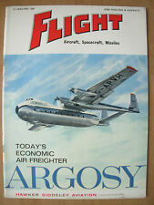 FLIGHT AIRCRAFT SPACECRAFT MISSILES MAGAZINE JANUARY 13th 1961 ARGOSY FREIGHTER