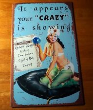 IT APPEARS YOUR CRAZY IS SHOWING Psychic Tarot Crystal Ball Fortune Teller Sign