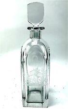 Orrefors Vintage Romeo & Juliet Engraved Crystal Cocktail Shaker