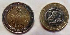 Rare pièce 2 euros grèce 2002 frappée S Finlande + pieces 1 euro frappé S