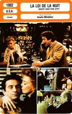 FICHE CINEMA : LA LOI DE LA NUIT - De Niro,Lange,Winkler 1992 Night And The City