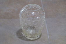 Vintage Crackle Glass Vase Glassware Clear Folk Art Shabby Chic Decor Flower Bud