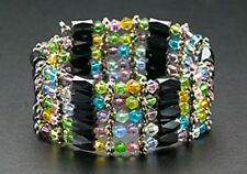 Therapy Magnetic Hematite Wrap Bracelets Necklace Crystals Free Shipping Multi