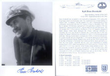 U-boat signed  WW2 WWII U-boat Iron Cross / KC 12 hand signed photo Ltd Edition