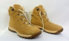 DR SCHOLLS LEATHER LACE FRONT SHERPA LINED HIKING BOOTS WOMEN SIZE 9 HEIGHT 7""