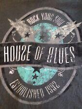 VINTAGE HOUSE OF BLUES - ROCK YOUR SOUL T SHIRT MEDIUM