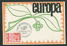 FRANCE MK 1965 EUROPA CEPT IVA MUNICH MAXIMUMKARTE CARTE MAXIMUM CARD MC d5315