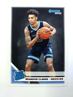 2019-20 Panini Donruss Rated Rookie Brandon Clarke RC #220, Memphis Grizzlies