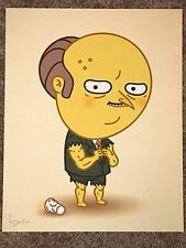 Mike Mitchell Mr Burns The Simpsons Steroids Print Poster Mondo Just Like Us JLU