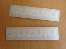 Suzuki Motorbike Motorcycle Fairings Tank Stickers Decals x2 @ 100 x 15mm White