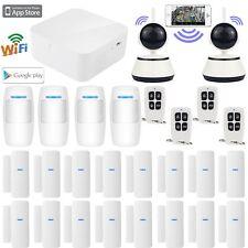 O11 WiFi APP Internet Wireless Home Security Burglar Alarm System+2 HD IP Camera