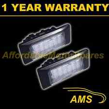 2X FOR VOLKSWAGEN PASSAT ESTATE POLO JETTA 18 WHITE LED NUMBER PLATE LIGHT LAMPS