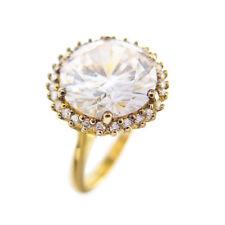 Modernist Silber vergoldet Ring cubic Zirkonia 925 silver gilt ring 🌺🌺🌺🌺🌺