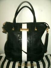 L.A.M.B. By Gwen Stefani Large Black Embossed Leather Cross-body w/Dust Bag EUC!