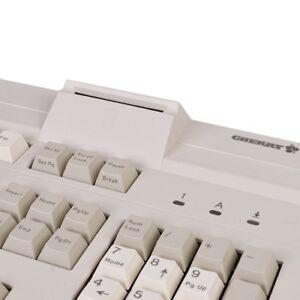 Cherry G81-8010LQAUS 104-Key PS/2 Keyboard w/9-pin Serial Port Smart Card Reader